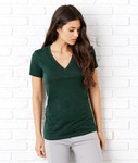 + Canvas Ladies' Triblend Short-Sleeve Deep V-Neck Tee