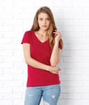 Bella+Canvas Ladies' Short-Sleeve V-Neck Jersey Tee 6005
