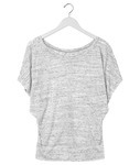 +CANVAS Ladies' Flowy Draped-Sleeve Dolman Tee