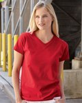 Fruit Of The Loom Ladies' Heavy Cotton HD™ V-Neck T-Shirt