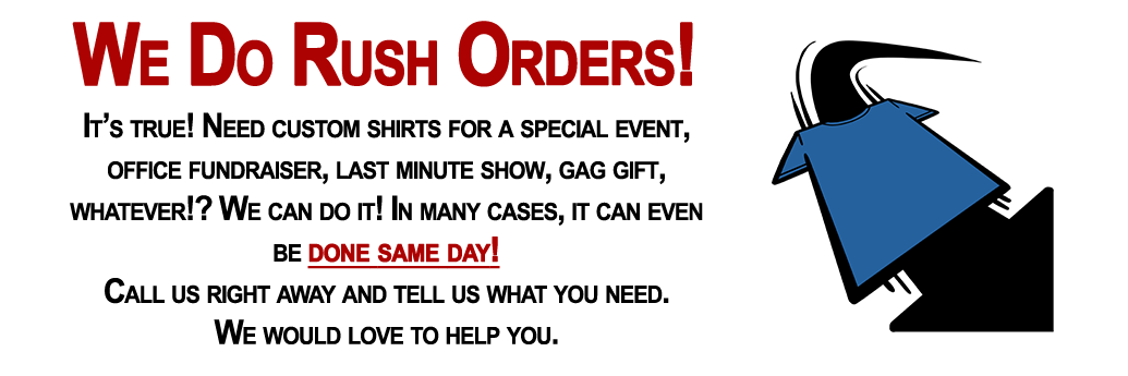We do rush orders